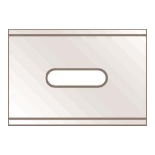 Martego Klinge Maße ca. 26 x 18,5 mm Stärke ca. 0,4 mm 10 Stück/Spender Martor