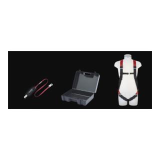 MAS Sicherheitsset 3-teilig Auffanggurt MAS 5 BFD 3 2m Kunststoff-Koffer