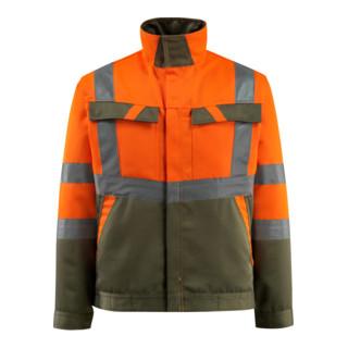 Mascot Arbeitsjacke Forster hi-vis orange/moosgrün