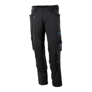 Mascot Hose mit Knietaschen, Stretchstoff Hose schwarz