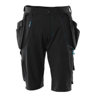 Mascot Shorts mit abnehmbaren Hängetaschen Handwerkershorts schwarz