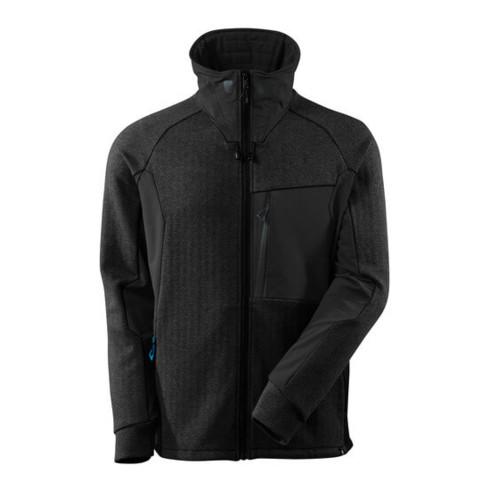 Mascot Sweatshirt, Reißverschluss, Stehkragen Sweatshirt mit Reißverschluss Schwarz-meliert/Schwarz