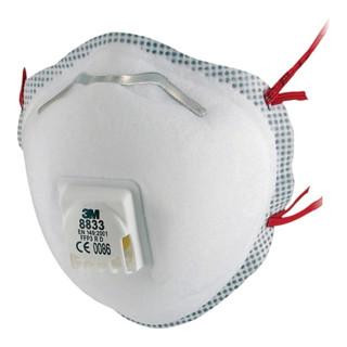 Masque de protection respiratoire 8833SV EN 149:2001 + A1:2009 FFP3 RD 5 pcs/car