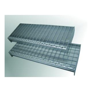 MEA Treppenstufenrost step XSL 30 x 10 mm + TS 20 mm 1000 x 240 mm
