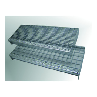 MEA Treppenstufenrost step XSL 30 x 10 mm + TS 20 mm 1200 x 305 mm