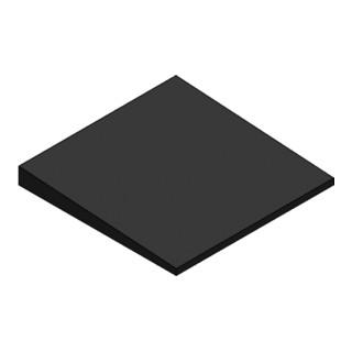 MEFA Gummikeil Dachhalter Gummi 270 x 270 x 28/10 mm Neigung 4°