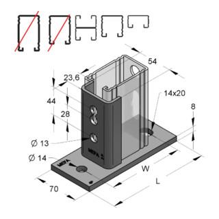 MEFA Halter C-Profil 45