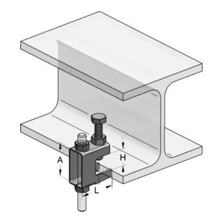 MEFA Trägerklammer Stahl MKS Klemmbereich bis 20 mm Loch für M10