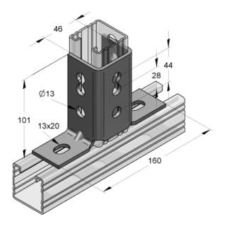 MEFA Winkelverbinder C-Profil 45 180° Anzahl Schenkel 2