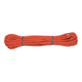 Mehrzweckseil Länge 10m Durchmesser 10,0mm orange
