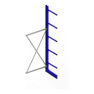 Meta Kragarmregal Anbau IPE120 einseitig Enzianblau + 4 Armen je Ständer