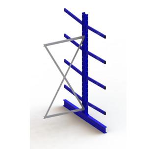 Meta Kragarmregal Anbau IPE140 doppelseitig Enzianblau + 8 Armen je Ständer