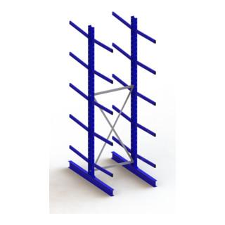 Meta Kragarmregal Grundregal IPE140 doppelseitig Enzianblau + 10 Armen + Ständer Multistrong M