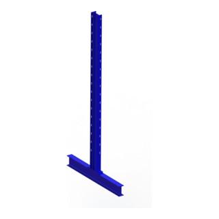 Meta Kragarmregal Ständer IPE 120 doppelseitig Enzianblau Multistrong L