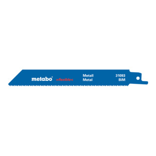 "METABO  5 Säbelsägeblätter, Metall, Serie ""flexible"", 150x 0,"