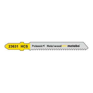 Metabo 5 Stichsägeblätter Holz Serie classic HCS