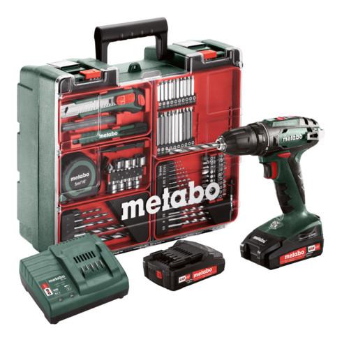 Metabo Akku-Bohrschrauber BS 18 Set Mobile Werkstatt; Kunststoffkoffer; 18V 2x2Ah Li-Ion + SC 30