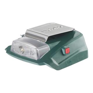 Metabo Akku-Power-Adapter PA 14.4-18 LED-USB 12 V Anschluss + 5 V USB + LED-Licht Karton