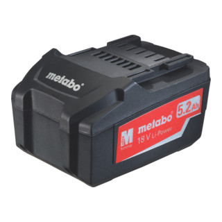 Metabo Akkupack 18 V, 5,2 Ah, Li-Power 625592000