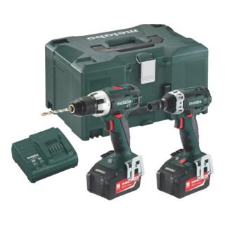 Metabo Battery set Combo Set 2.1.2 18 V BS 18 LT + SSW 18 LTX 200 MetaLoc