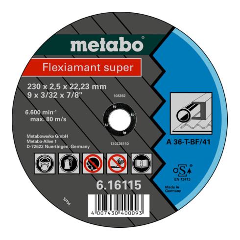 Metabo Flexiamant super 230x2,5x22,23 Stahl, Trennscheibe, gerade Ausführung