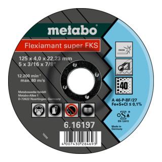 Metabo Flexiamant Super FKS Inox Schruppscheibe gekröpfte Ausführung