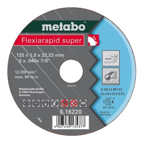 Metabo Flexiarapid super 125x1,6x22,23 Inox, Trennscheibe, gerade Ausführung