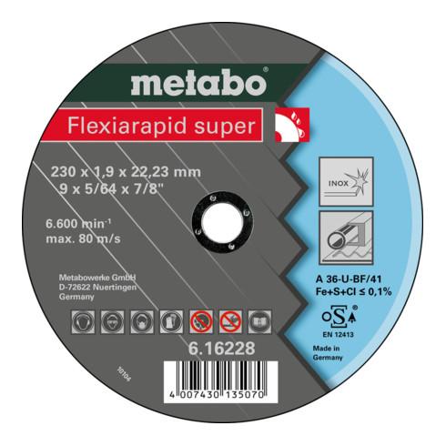 Metabo Flexiarapid super 230x1,9x22,23 Inox, Trennscheibe, gerade Ausführung