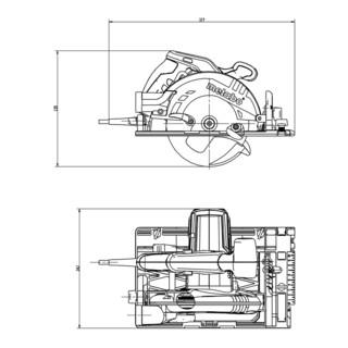 Metabo Handkreissäge KS 55 FS mit Führungsschiene im Koffer