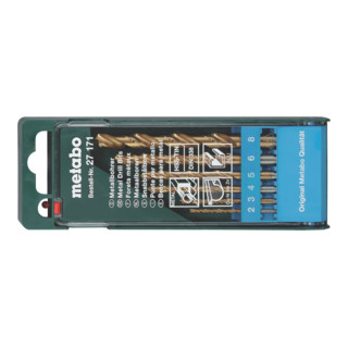 METABO  HSS-TiN-Bohrerkassette 6-teilig