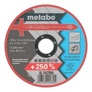 Metabo M-Calibur 115 x 1,6 x 22,23 Inox, TF 41
