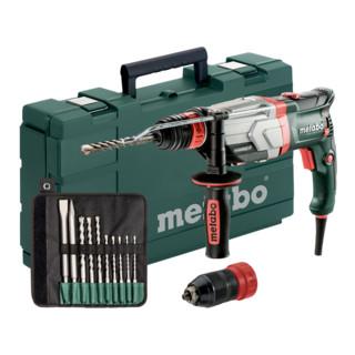Metabo Multihammer UHEV 2860-2 Quick Set + SDS-plus-Bohrer-/Meißelsatz (10-tlg.) + Kunststoffkoffer