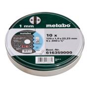 Metabo Satz=10xTrennscheiben SP 125x1,0x22,23 Inox, TF 41 , in Blechdose