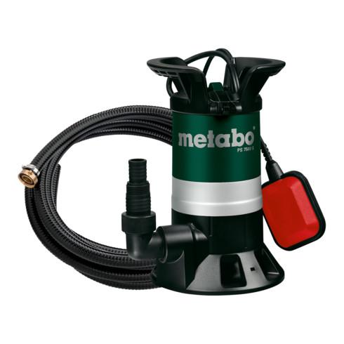 Metabo Schmutzwasser-Tauchpumpe PS 7500 S Set mit Ablauf-Garnitur mit Armaturen (7 m); Karton