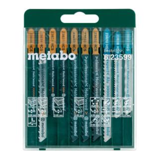 Metabo Stichsägeblattsortiment SP, für Holz, Metall und Kunststoffe, 10-teilig