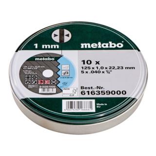 Metabo Trennscheiben SP, 125 x 1,0 x 22,23 mm, Inox TF 41, in Blechdose, 10 Stück