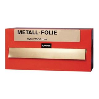 Metallfolie Dicke 0,100 mm Messing MS63 Länge 2500 mm Breite 150 mm