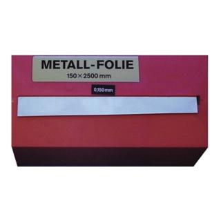 Metallfolie Dicke 0,100 mm Stahl Länge 2500 mm Breite 150 mm