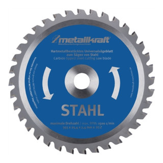 Metallkreissägeblatt HM Stahl 355x2,4x25,4mm Z80