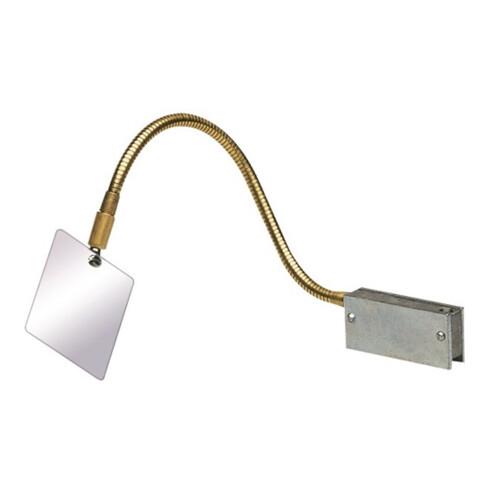 Miroir de soudage magnétique av. disp. de positionnement fixe l.70xH1xL80mm