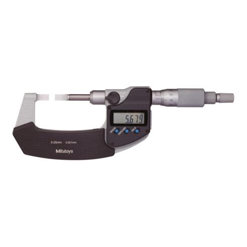 Mitutoyo Digitale Bügelmessschraube zur Nutenmessung, Messbereich: 0-25 mm