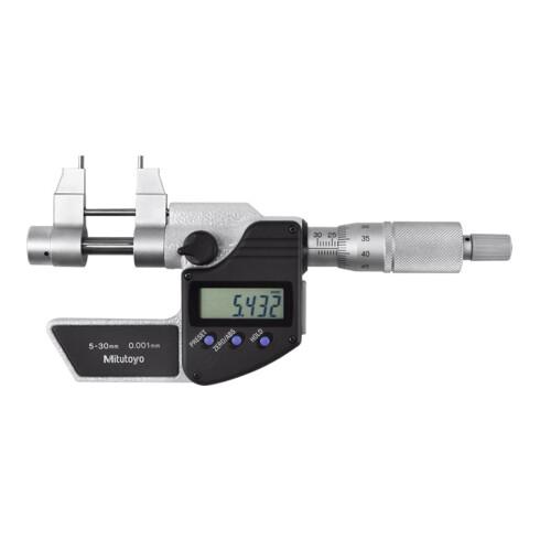 Mitutoyo Digitale Schnabel-Innenmessschraube mit Datenausgang, Messbereich: 5-30 mm