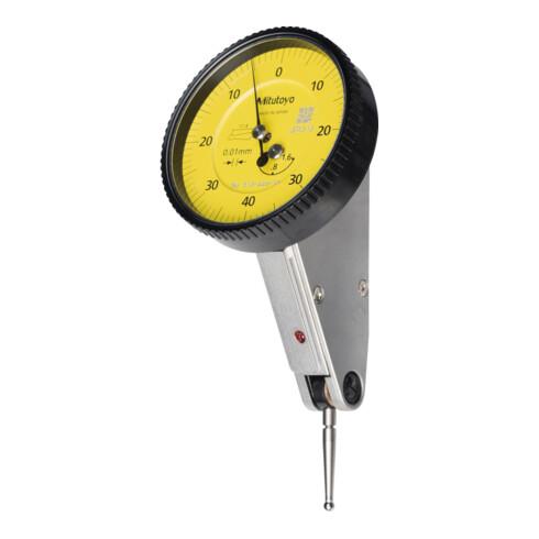 Mitutoyo Fühlhebelmessgerät mit schräg stehender Uhr, Messbereich je Richtung / Gehäuse-Durchmesser: 0,8/39 mm