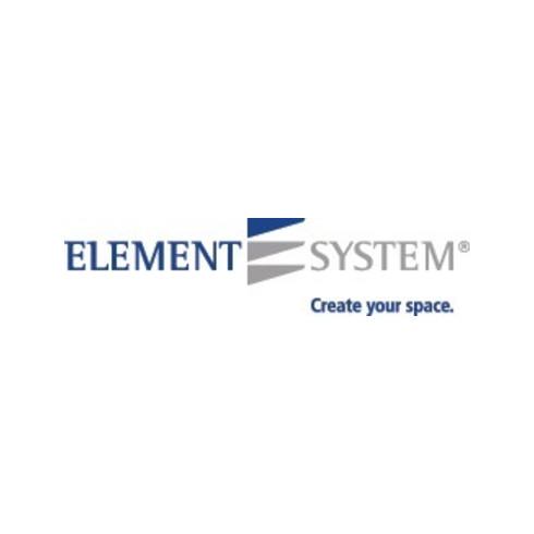 Möbelfuß schwarz RAL 9005 25x25mm H.250mm Platte ELEMENT SYSTEM