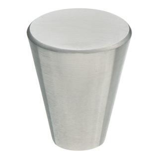 Möbelknopf Durchmesser 25mm Höhe 29mm Konisch Edelstahl feinmatt ohne Schrauben