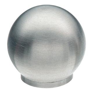 Möbelknopf Durchmesser 30mm Kugelform Edelstahl feinmatt