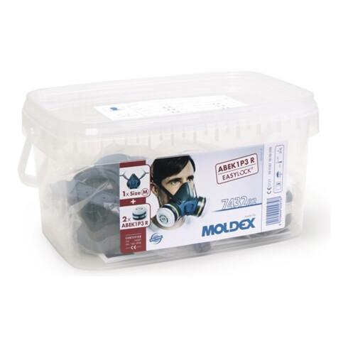 Moldex Atemschutzbox A1B1E1K1 P3 R Größe M, Serie 7000, organische Gase, anorganische Gase, Saure Gase, Ammoniak und Partikel EasyLock®