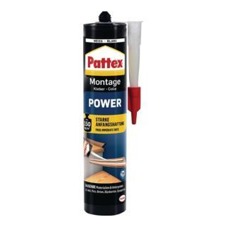 Montagekleber Mont. Power weiß 370 g Kartusche PATTEX