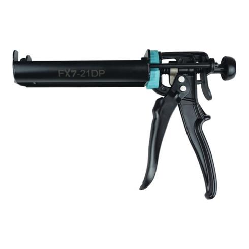 Montagepistole 2K schwarz lack. für Doppelkartuschen 210ml