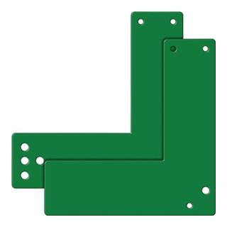 Montageplatte 901 470/991 470 Mont.an GLT grün lack.L.175mm B.170mm